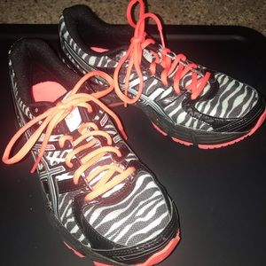 ASICS Black/Teal Gel DuoMax Athletic Zebra shoes